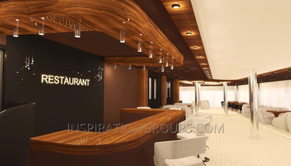 Дизайн интерьеров ресторанов внутреннего интерьера