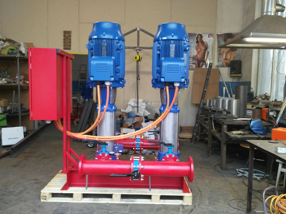 Order Manufacturing, assembly, supply of booster fire extinguishing stations.