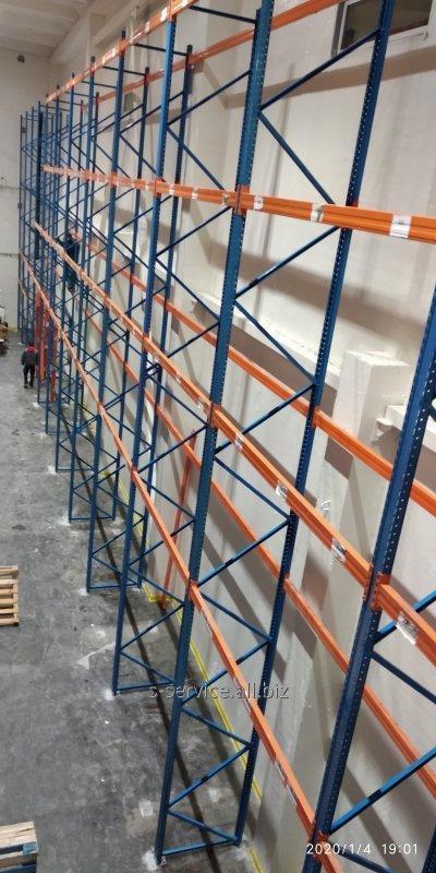 Монтаж складських стелажів будь-якої складності і будь-якого виробника