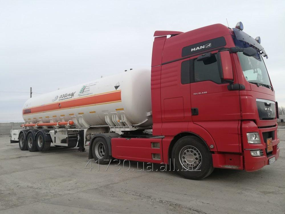 Order Transportation of ammonia waterless tankers. Transportation of dangerous freights.