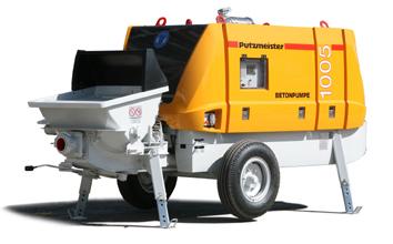 Заказать Аренда бетононасоса PUTZMEISTER BSA 1005 D, стационарный, производительность 50 куб. м/час; высота подачи бетона 40 м, расстояние подачи бетона по горизонтали 280 м