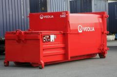 Collecting and export of waste with application of