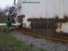 Repair of tanks for storage of oil and oil