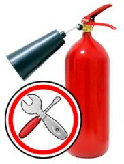 Repair of fire extinguishers