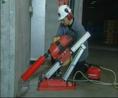 Diamond drilling of openings for installation of