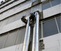 Монтаж и замена промышленных дымовых труб и дымоходов