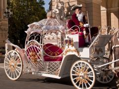 Прокат карет,свадебной белой кареты и лошадей