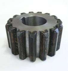 Production of gear wheels, asterisks, shaft, axes,