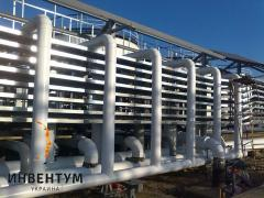 Thermal insulation of pipelines, capacities
