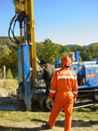 Drilling of grouting wells