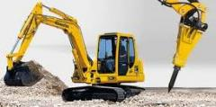 Services of a hydrohammer, service of excavators