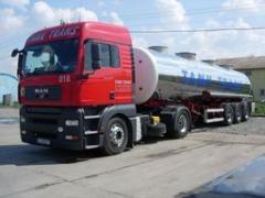Автоперевозки наливных грузов в автоцистернах