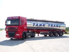 Международные грузоперевозки  наливных грузов в автоцистернах