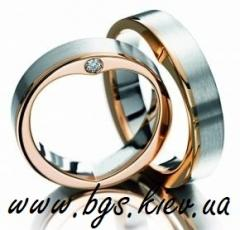 Production wedding rings from gold of cues