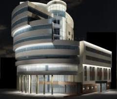 Разработка проектов архитектурной подсветки.