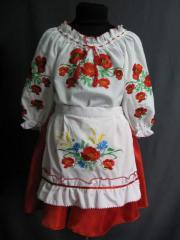 Hire of children's Ukrainian suits