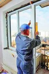 Installation of metalplastic windows