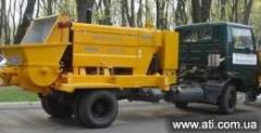 Rent of the stationary concrete pump