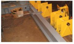 Installation and repair of crane tracks