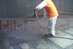 Waterproofing of metal tanks