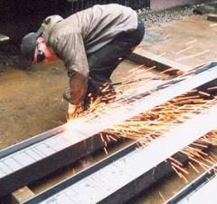 Gas cutting of metal rolling