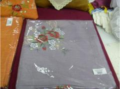 Services of tailoring of table textiles, the