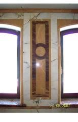 Отделка помещений.Стены отделанные мрамором