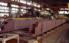 Production of a metalwork on the project of the customer
