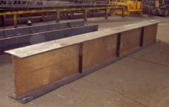 Production of a construction metalwork