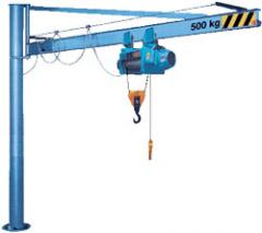 Installation and painting of load-lifting cranes