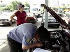 Технический осмотр автомобильных транспортных