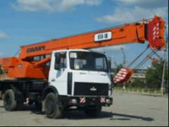 Rent of the KTA-18 truck crane of t.
