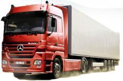 Forwarding of a cargo transportation motor