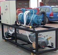 Монтаж агрегатов на базе винтовых компрессоро