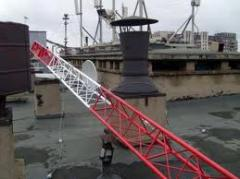 Installation and service of antenna masts