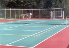 Укладка спортивных покрытий теннисных кортов