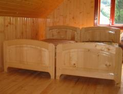 Production of furniture from natural wood under