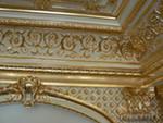 Gilding of interiors, plaster stucco molding,
