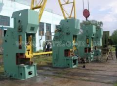 Repair of crank press