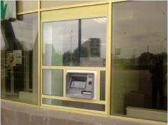 Installation of ATMs and other services.