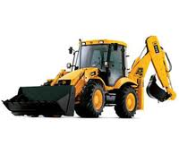 Eskavator. Services of a loader of CASE 580 SR,