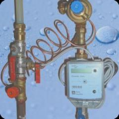 Water and heat meters installation