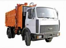 The garbage truck for export different waste: