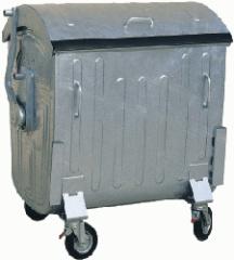 Metal konteyner.dlya collecting utility and