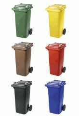Plastikovy container, 120 l. Recycling. Salvage.