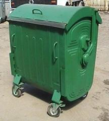 Metal container 1100l, European standard, colored.