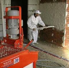 Machine plaster plaster