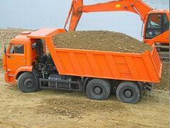 Automobile supply of sand, crushed stone, cement,