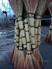 Brooms from a sorghum for expor