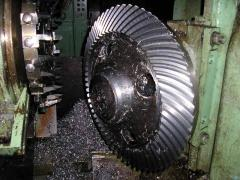 Production of gear wheel. Production of details